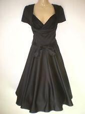 LINDY BOP NEW VINTAGE 50'S STYLE BLACK ROCKABILLY PARTY SWING DRESS SIZE 10