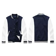 Mens Varsity Baseball Jacket Letterman College University Button Coat Outwear