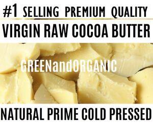#1 SELLING 100% Raw Cocoa / Cacao Butter PURE PRIME Pressed Unrefined FOOD GRADE