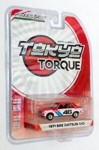 Greenlight Tokyo Torque 1/64 Scale 29900-C - 1971 Bre Datsun 510 - #46 Red/White