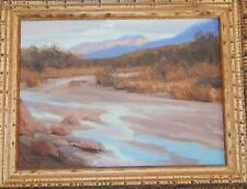 "David Schwindt Original Oil Painting ""Desert Stream"" frame = 11"" x 13"""