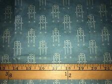 FOLK ART FANCIES BONNIE SULLIVAN Cotton Quilt Fabric *OOP* BLUE