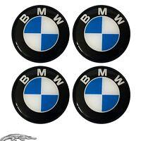 4 x 68mm SILIKON AUFKLEBER EMBLEM BMW NABENKAPPE Felgen Aufkleber Logo