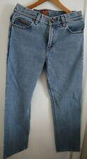 New Wrangler TEXAS Agent W07 Regular Fit men light blue acid jeans W33 L34
