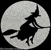 Halloween Witch Shirt, Glitter Witch - Broom, Sexy Halloween Ladies - Small - 5X