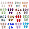 10pcs 10x15mm Faceted Glass Crystal Charms Teardrop Loose Beads Jewelry Making