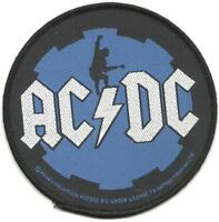 AC/DC blue cog 2008 circular WOVEN SEW ON PATCH official merchandise ANGUS