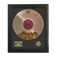 Rolling Stones You Can't Always Get Laser Etched Gold LP Record Framed Display