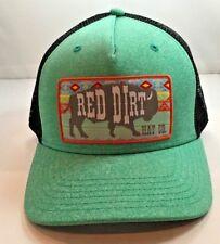 Red Dirt Hat SERAPE Buffalo Heather Green Trucker Hat