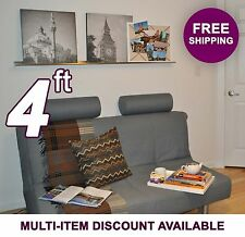 4ft x 3.5in ultraLEDGE Stainless Steel Floating Shelf Picture Ledge Art Display