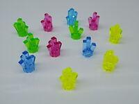 Lego 12 pc Lot CRYSTAL Rock Miner Minifig Gem Jewel Chest Treasure {WASHED}