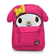LOUNGEFLY School Bag SANRIO MY MELODY Backpack Nylon PINK BUNNY RABBIT 3D EARS