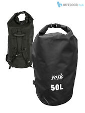 RUK Waterproof 50L Dry Bag Sack With Shoulder Straps Kayak Sailing Watersports