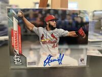 2020 Topps Chrome Junior Fernandez Rookie On Card AUTO RC CARDINALS