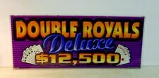 Vintage Slot Machine Glass DOUBLE ROYALS DELUXE 96-11391 CDS Graphics #2