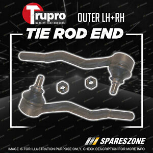 Pair Trupro Outer Tie Rod Ends for BMW 3 Series E30 318I 318S 320I 323I Sedan
