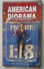 "TEAM PINK LADY BIKER AMERICAN DIORAMA 1:18 Scale FEMALE LADY 4"" Figure"