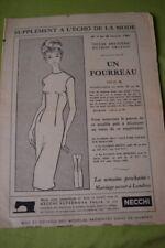 """"""" ECHO DE LA MODE """" PATRON N°4// UN FOURREAU T 46/50"""