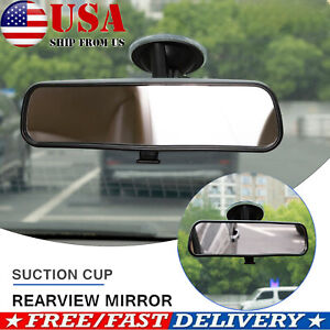 Universal Rear View Interior Car Rearview Mirror Suction Cup Wide Baby Safety US