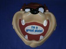 Vintage Looney Tunes Taz Tasmanian Devil Figural Kid's Plate by Applause 8½x9in