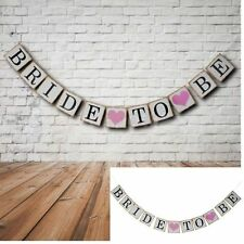 1Set Bride To Be Bunting Banner Garland Hen DO Bridal Shower Wedding Party Decor