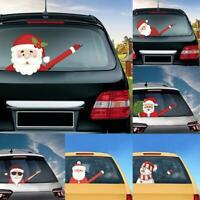 Christmas Auto Decoration Cute Car Wiper Sticker For Xmas Santa Claus DIY