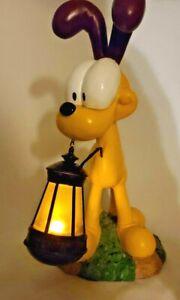 LED Light Statue Odie Figurine Lantern Garden Decor Outdoor Patio Yard
