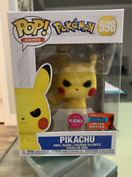Funko POP! Pokemon #598 Grumpy/Angry Pikachu FLOCKED 2020 Fall Convention NYCC