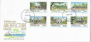 L4547 TOKELAU FIRST DAY COVER FDC ARCHITECTURE 1985
