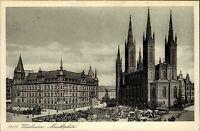 Wiesbaden Hessen ~1940 Marktplatz Schloßplatz Altstadt Marktkirche Stadtschloss