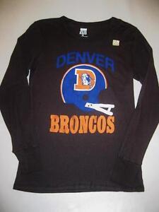 New Womens Junk Food Denver Broncos Kick Off Long Sleeve Thermal T-Shirt  Size M