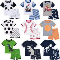 Kids Pajamas Child Boy Sleepwear Toddler Pyjama Animal Shark Dinosaurs Car Print