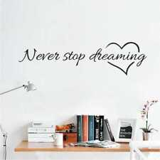 Never Stop Dreaming Wall Sticker Film Removable Paster Living Room Bedroom Decor