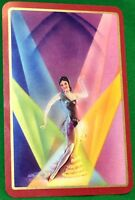 Playing Cards Single Card Old Art Deco GIRL LADY DANCER Stage Dancing Picture 1