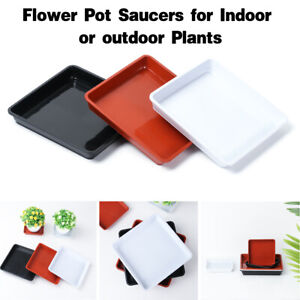Heavy Duty Square Plant Saucer Indoor Outdoor Drip Trays Plastic Tray Saucers