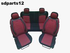Per Mercedes BMW Audi Coprisedili Rosso Linea Nera Similpelle Set Qualità