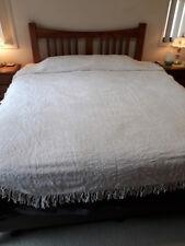 Vintage Snowy White Allover Chenille Bedspread #2