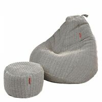 Bean bag cover Cotton Chair without Bean With footrest for a luxury Home Decor