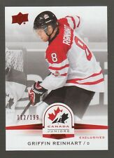(56544) 2014-15 UPPER DECK TEAM CANADA JUNIORS EXCLUSIVES GRIFFIN REINHART #61