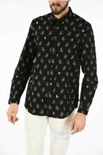 Diesel S-Rabbit Men's Shirt Black with White Bunny Pattern Size L