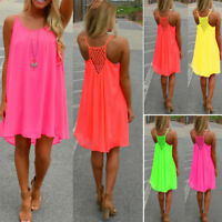 Women's Dress Sundress Summer Boho Evening Party Cocktail Beach Plus Size Loose