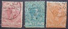 Italie oblitérés, timbres pour colis postaux n°3 à 5, 1884