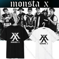 KPOP Monsta X T-shirt THE CLAN Album Tshirt Unisex Tee I.M Shownu Jooheon Cotton