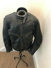 BELSTAFF VINTAGE BLACK LEATHER MOTORCYCLE JACKET, SIZE XL, MADE IN UK , MCQQUEEN