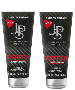 John Player SPECIAL CARBON EDITION Pepper Hair and Body Wash 2 x 200ml