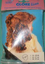"""Dark brown Glorex doll wig, 7.5"""" to 8"""", Switzerland, artificial hair"""