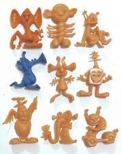 R&L 1973 CEREAL TOY - ASTRONITS - LOT OF 9 - VINTAGE AUSSIE + RARE USA COLOUR