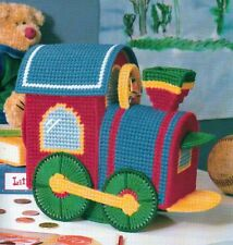 TRAIN-ING BANK TRAIN PLASTIC CANVAS PATTERN INSTRUCTIONS