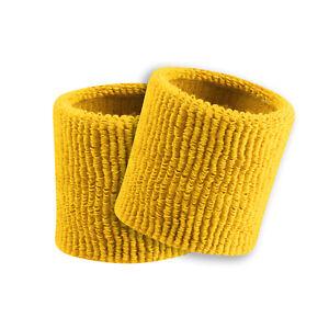 "Terry Wristbands Sweatbands Plain No Logo (Pair) 3.5"" New"