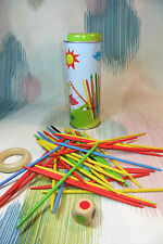 Kaper Kidz Children's Wooden MULTI-COLOUR Pick Up Sticks Toy Game in Tin Case!
